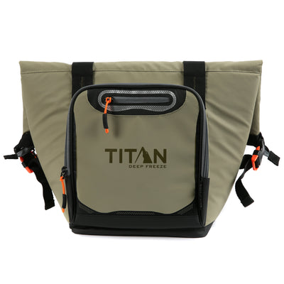 Titan Deep Freeze 12 Can Insulated Roll-Top Tote - Tan - Front
