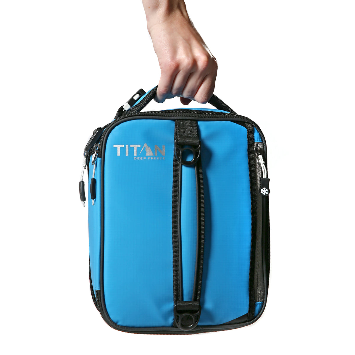 Titan Deep Freeze® Expandable Lunch Box - Blue - Carry, vertical