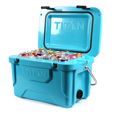 Titan Deep Freeze® 20Q High Performance Cooler - Open full