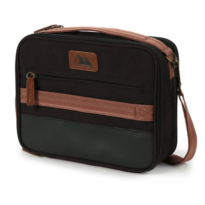 Arctic Zone® Canvas Expandable - Black - Front, closed