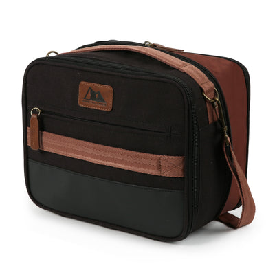 Arctic Zone® Canvas Expandable - Black -Front, closed, expanded