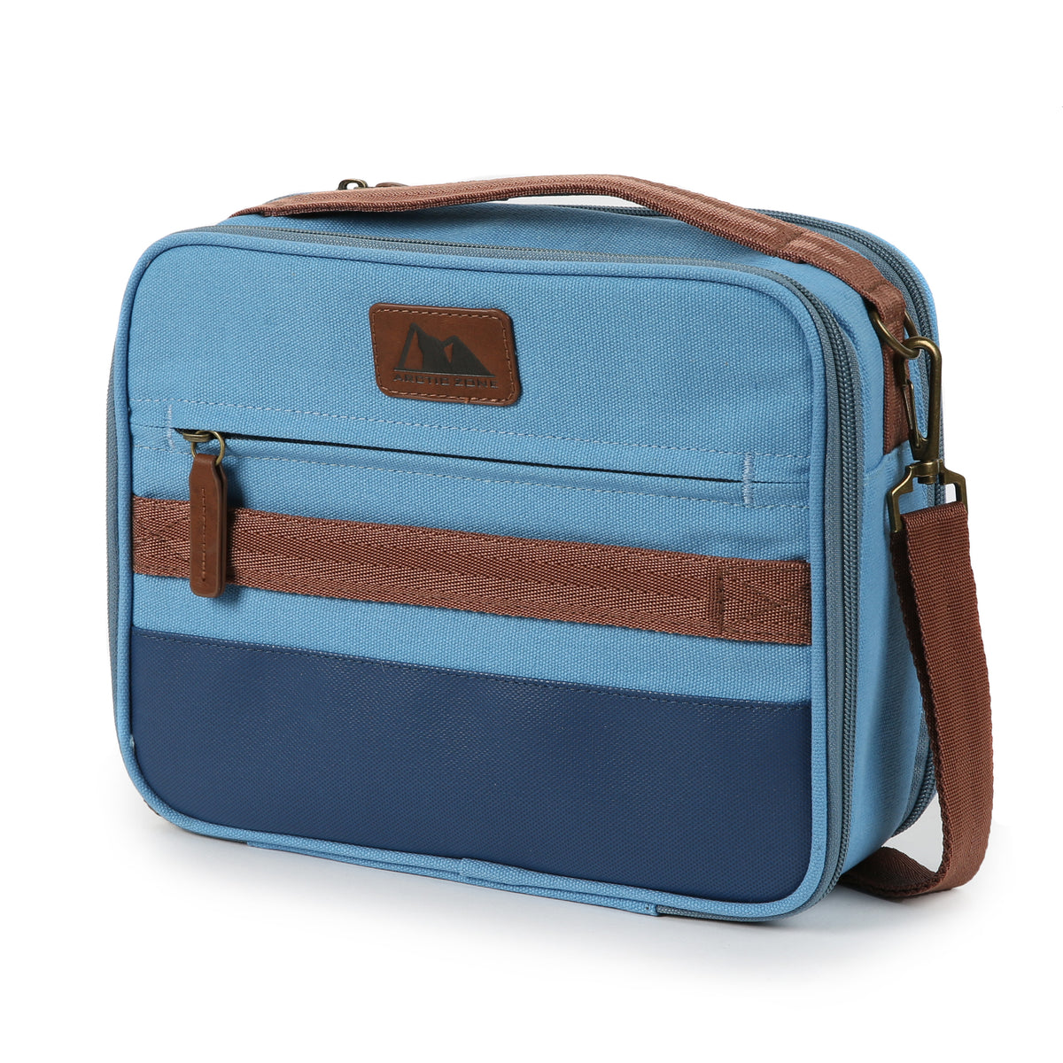 Arctic Zone® Canvas Expandable - Blue - Front, closed