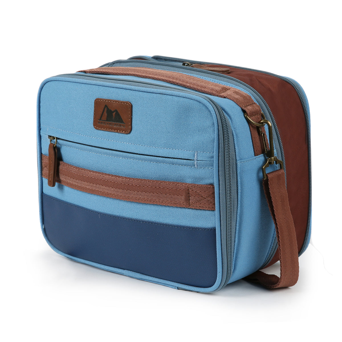 Arctic Zone® Canvas Expandable - Blue - Front, closed, expanded