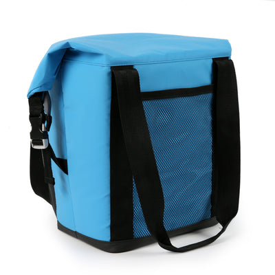 Titan Deep Freeze® 12 Can Insulated RollTop Tote - Blue - Back, closed