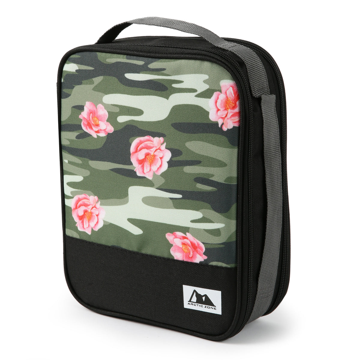 Arctic Zone Expandable Urban Lunch Pack - Rose Camo - Collapsed