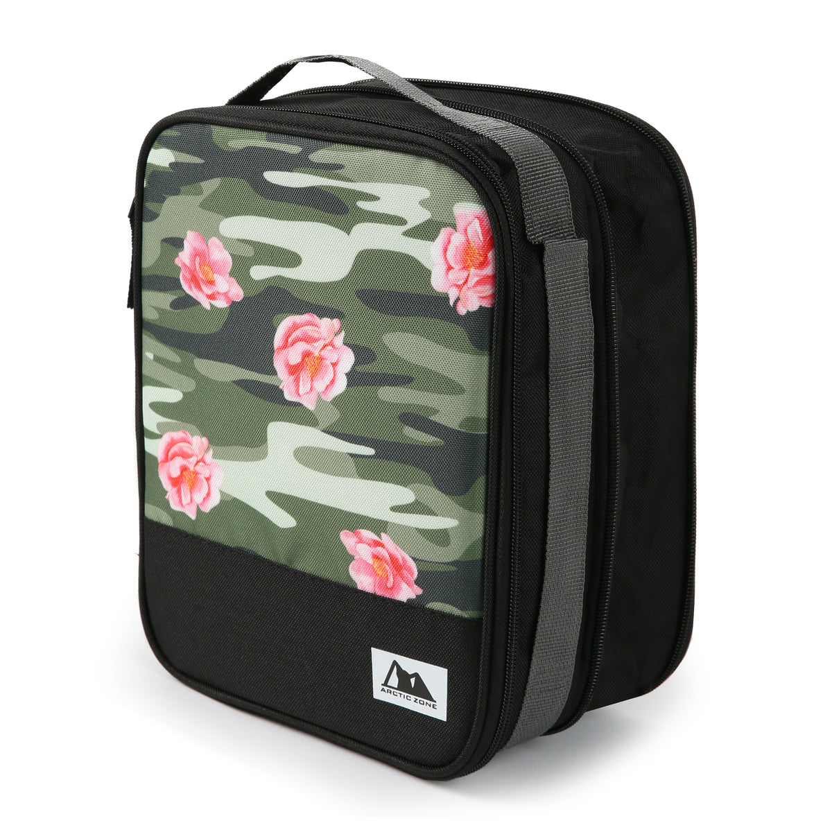 Arctic Zone Expandable Urban Lunch Pack - Rose Camo - Expanded