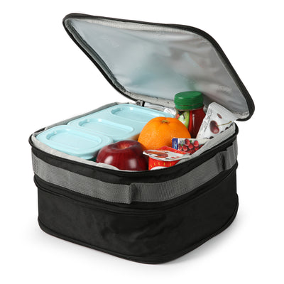 Arctic Zone® Expandable Urban Lunch Pack - Rose Camo - Open, propped