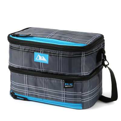 Arctic Zone® Ice Walls® Dual Compartment Lunch Pack  - Wilfred Plaid - Front, closed