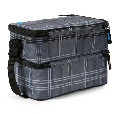 Arctic Zone® Ice Walls® Dual Compartment Lunch Pack  - Wilfred Plaid - Back