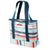 Arctic Zone® 30 Can 2-in-1 Beach Tote - Stripes - Front, closed
