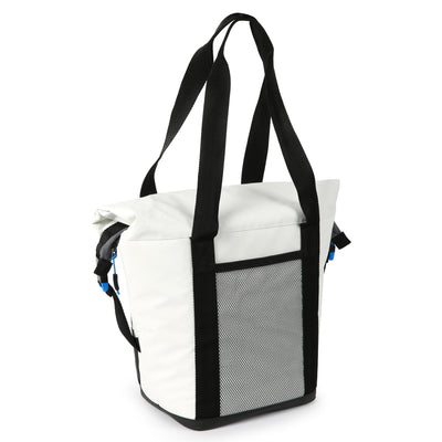 Titan Deep Freeze® 12 Can Insulated RollTop Tote - White - Back, closed