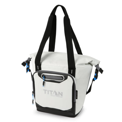 Titan Deep Freeze® 12 Can Insulated RollTop Tote - White - Front, closed