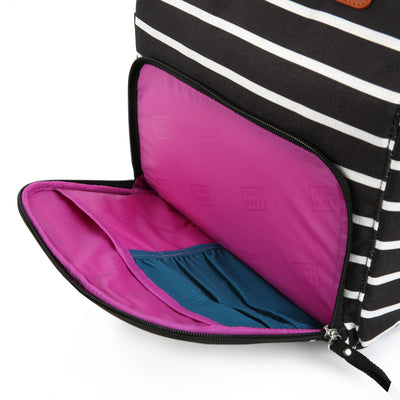 Arctic Zone® Abigail Tote - Basic Stripes - Insulated front pocket