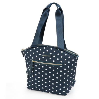 Arctic Zone® Dabney Lee Soft Tote - Dottie Navy - Front, closed