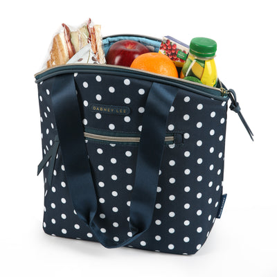 Arctic Zone® Dabney Lee Soft Tote - Dottie Navy - Open, propped