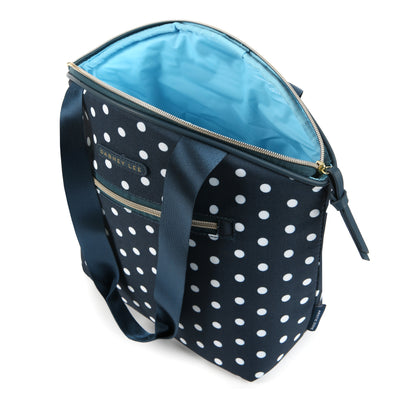 Arctic Zone® Dabney Lee Soft Tote - Dottie Navy - Open, empty