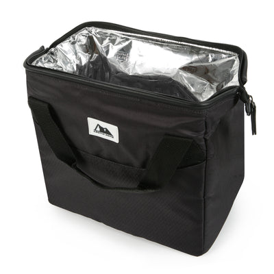 Arctic Zone® High Performance Meal Prep Lunch Bag M.D. - Black - Open, empty