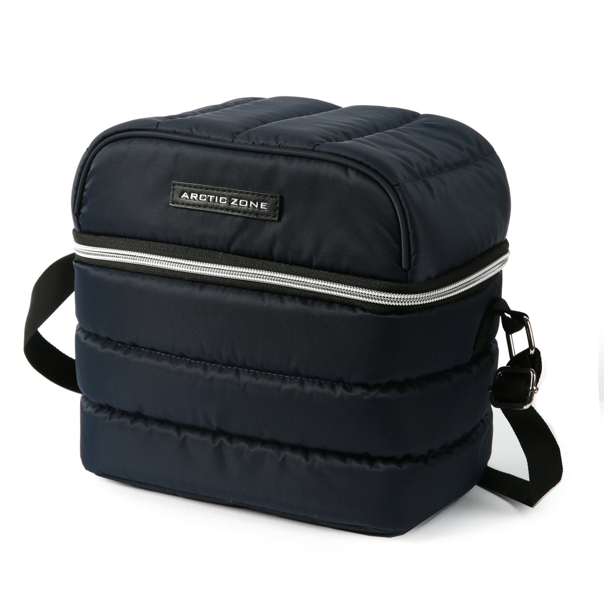 Arctic Zone® Crossbody Quilted Lunch Pack - Majolica Blue - Front