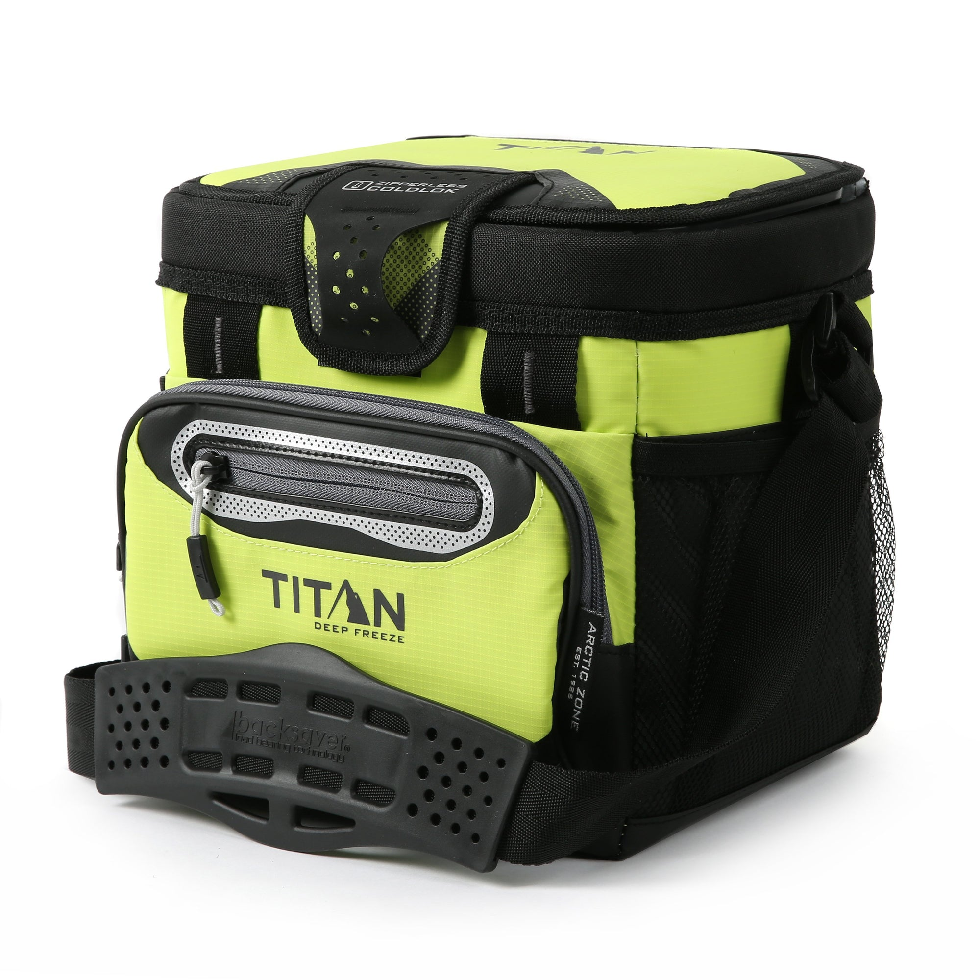 Titan Deep Freeze® 9 Can Zipperless™ HardBody® Cooler - Citrus - Front, closed