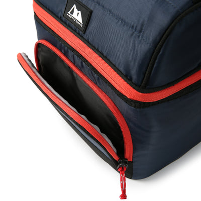 Arctic Zone® High Performance Ultimate Secret Lunch Bucket - Navy - Zippered front pocket