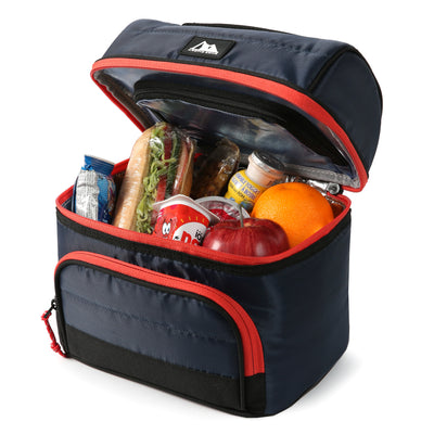 Arctic Zone® High Performance Ultimate Secret Lunch Bucket - Navy - Open, propped