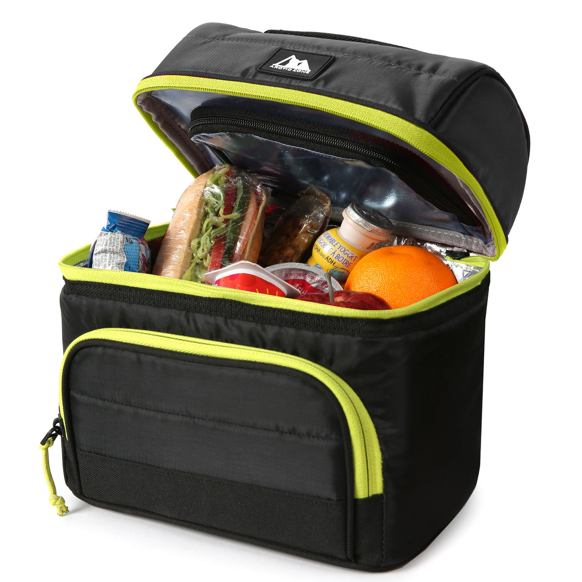 Arctic Zone® High Performance Ultimate Secret Lunch Bucket - Black - Open, propped