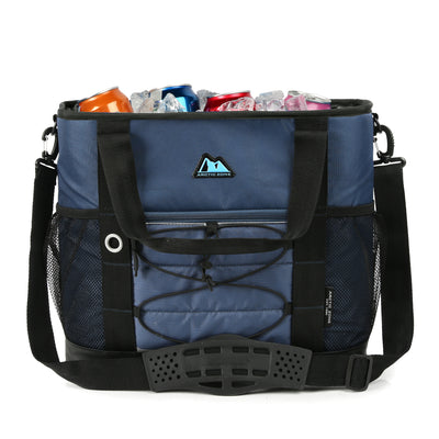 Arctic Zone® 30 Can Ultimate Sport Tote - Blue - Open propped