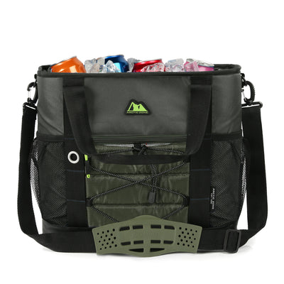 Arctic Zone® 30 Can Ultimate Sport Tote - Green - Open, propped