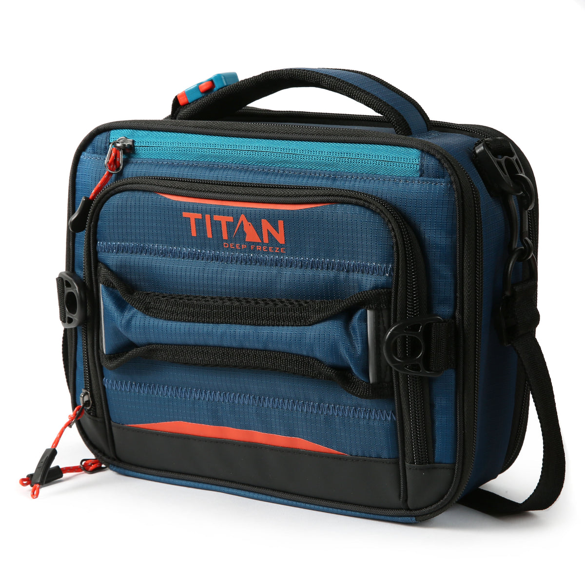 Titan Deep Freeze® High Performance Expandable Horizontal Lunch Pack - Blue - Front, closed