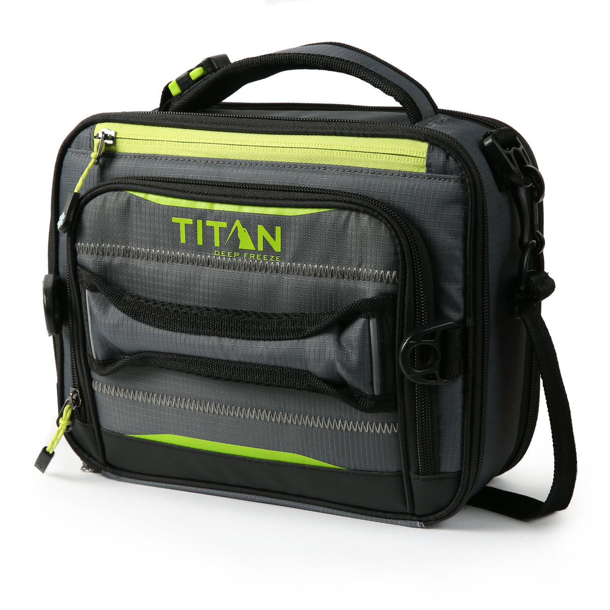 Titan Deep Freeze® High Performance Expandable Horizontal Lunch Pack - Grey - Front, closed