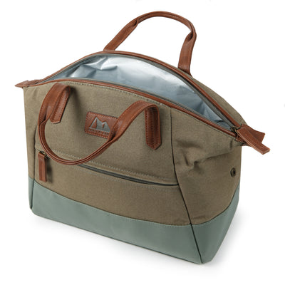 Arctic Zone® Canvas Lunch Tote - Moss - Open, empty
