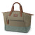 Arctic Zone® Canvas Lunch Tote - Moss - Front, open expanded
