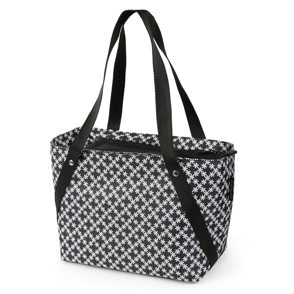 Arctic Zone® Commuter Tote - Delicate Daisies - Front, closed