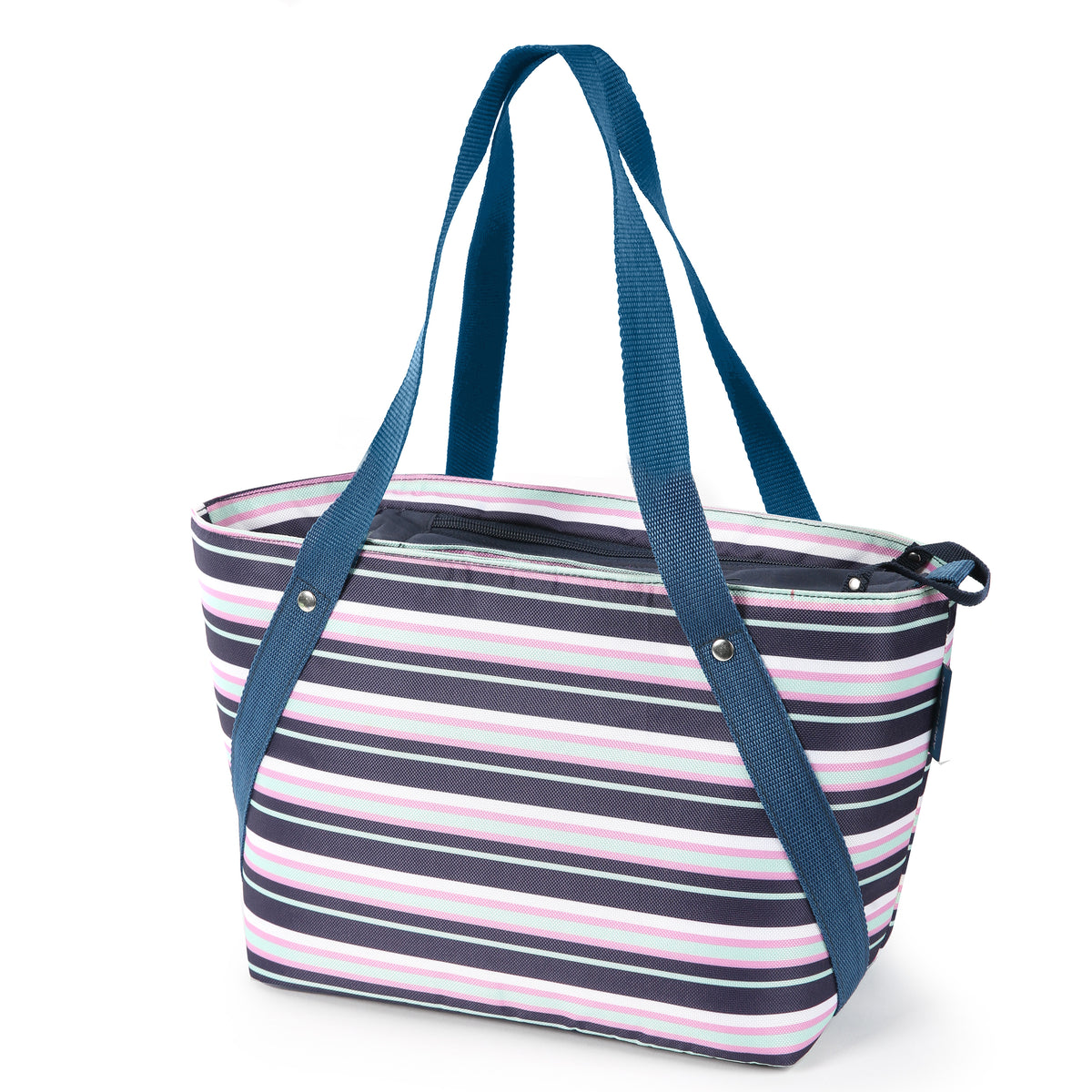 Arctic Zone® Commuter Tote - Mixed Stripes - Front, closed