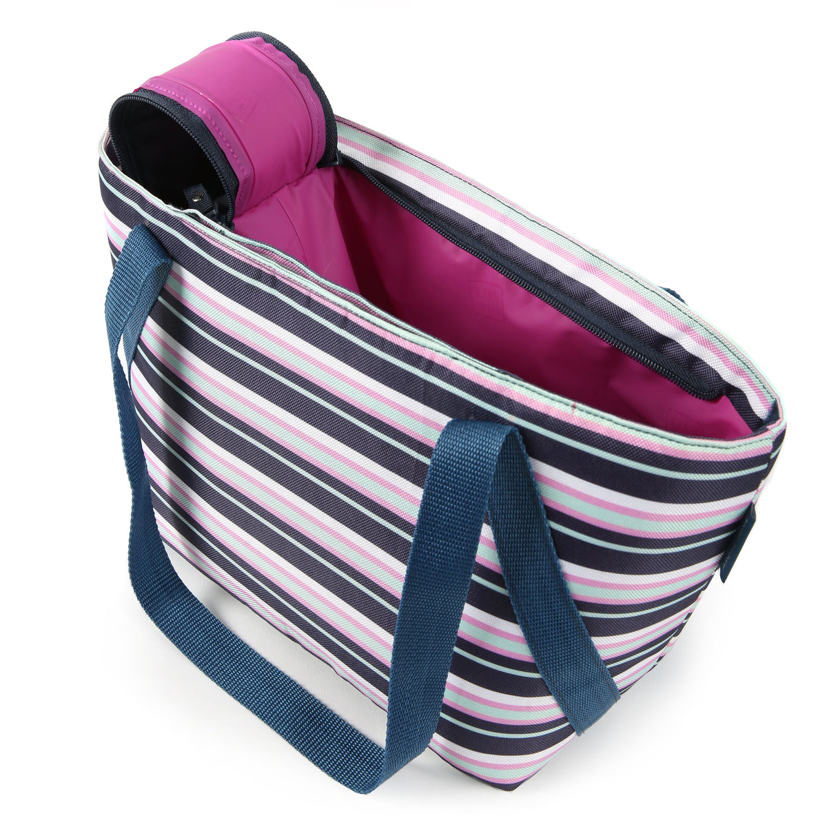 Arctic Zone® Commuter Tote - Mixed Stripes - Open, empty