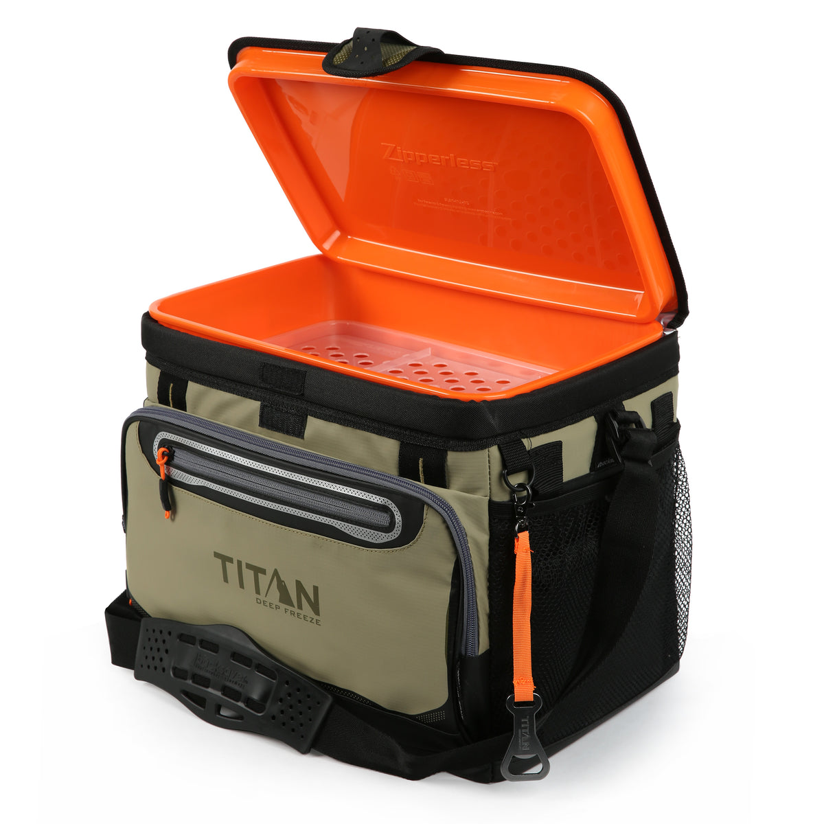 Titan Deep Freeze® 30 Can Zipperless™ Cooler - Moss - Open Empty
