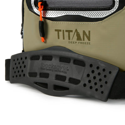 Titan Deep Freeze® 9 Can Zipperless™ HardBody® Cooler - Moss - Backsaver anti-slip shoulder pad