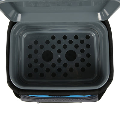 Titan Deep Freeze® 9 Can Zipperless™ HardBody® Cooler - Blue - Open, inside, smartshelf