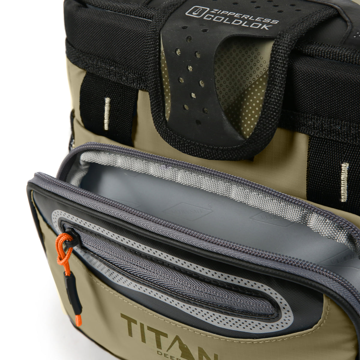 Titan Deep Freeze® 9 Can Zipperless™ HardBody® Cooler - Moss - Insulated front pocket
