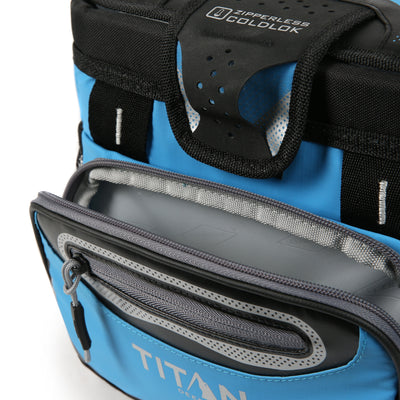 Titan Deep Freeze® 9 Can Zipperless™ HardBody® Cooler - Blue - Blue - Insulated front pocket