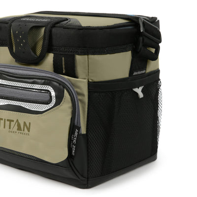 Titan Deep Freeze® 9 Can Zipperless™ HardBody® Cooler - Moss - Mesh side pockets