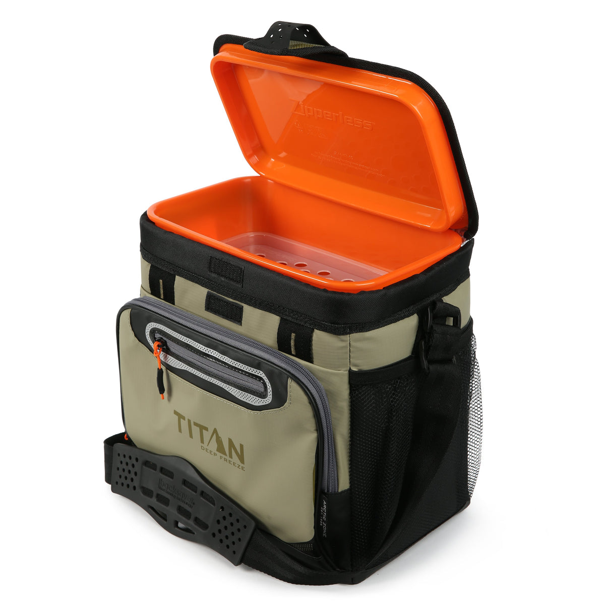 Titan Deep Freeze® 16 Can Titan Deep Freeze Zipperless™ HardBody® Cooler - Moss - Open empty