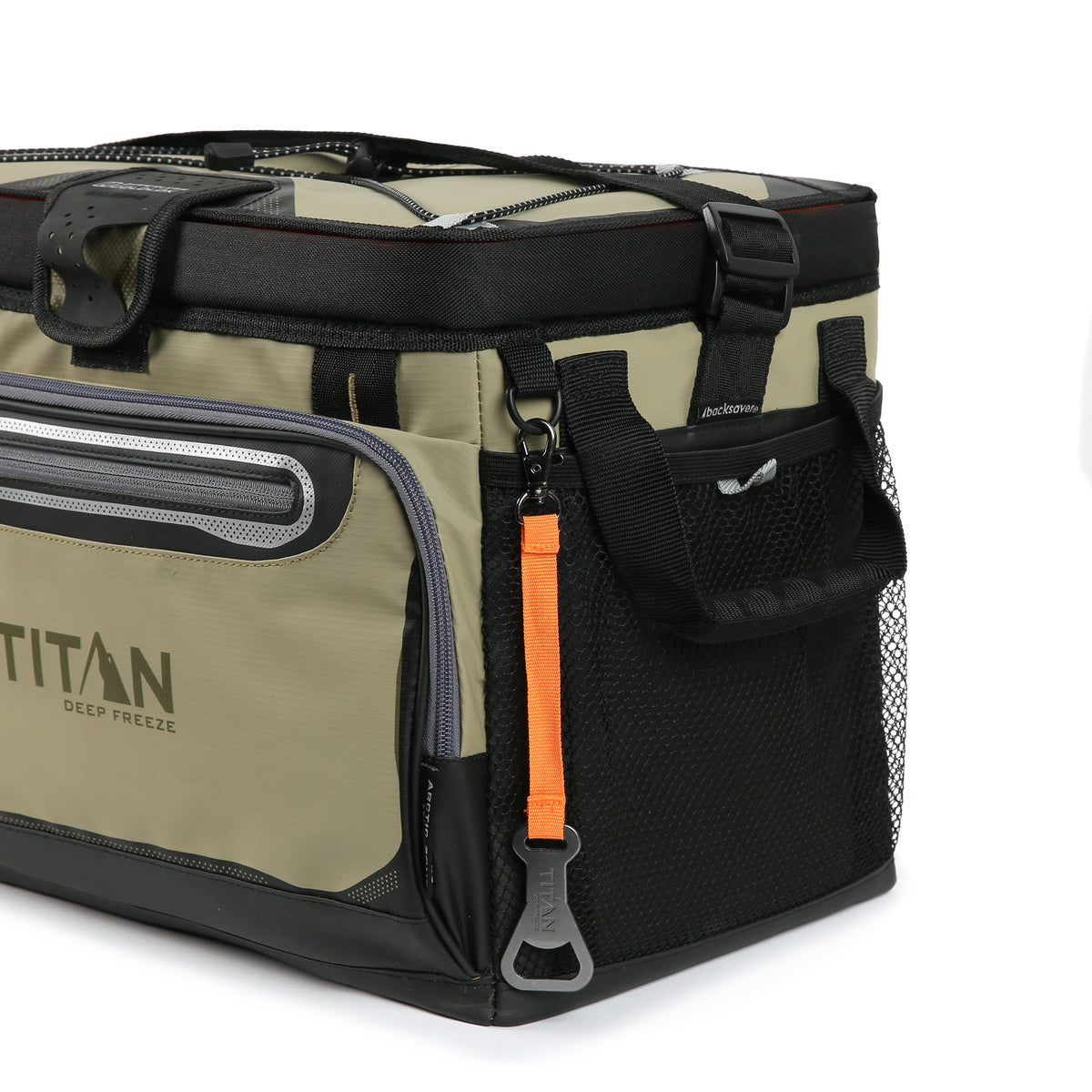 Titan Deep Freeze® 30 Can Zipperless™ Cooler - Moss - Mesh side pockets