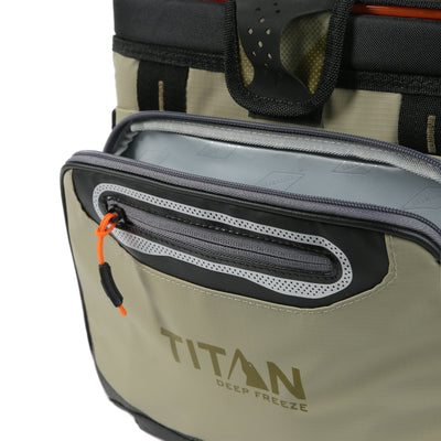 Titan Deep Freeze® 16 Can Zipperless™ HardBody® Cooler - Moss - Insulated front pocket