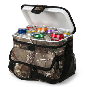 Arctic Zone - 16(12+4) Can Realtree Zipperless Cooler - Front Open with Cans inside