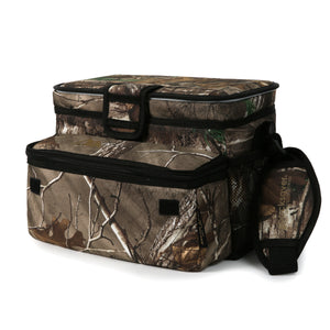 Arctic Zone - 16(12+4) Can Realtree Zipperless Cooler - Front pocket expanded
