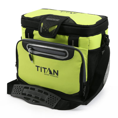 Titan Deep Freeze® 16 Can Zipperless™ HardBody® Cooler - Citrus - Front, closed