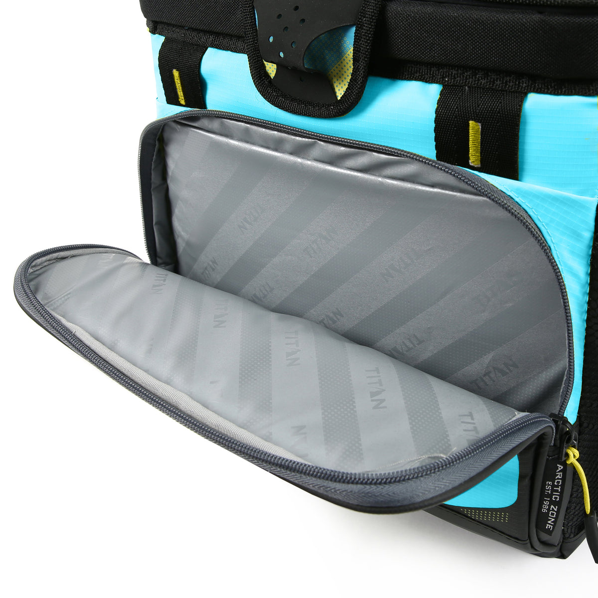 Titan Deep Freeze® 16 Can Zipperless™ HardBody® Cooler - Blue Lagoon - Insulated front pocket