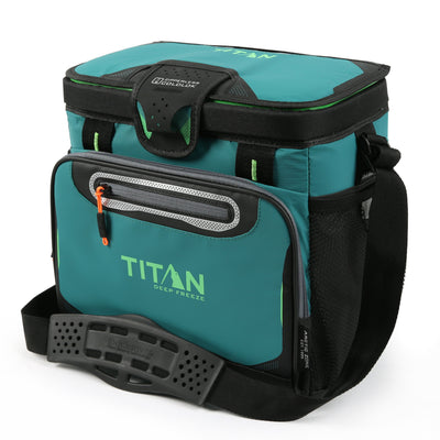 Titan Deep Freeze® 16 Can Zipperless™ HardBody® Cooler - Pine - Front, closed