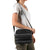 Arctic Zone® Crossbody Quilted Lunch Pack - Black - Model carry